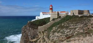 A beautiful cliff, beach, and amazing buildings in Sagres