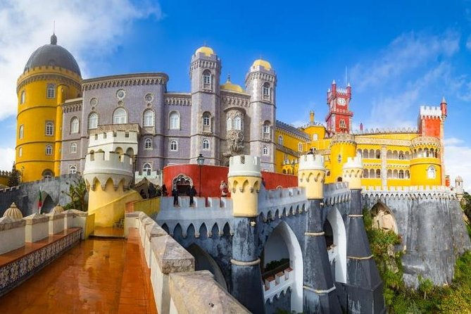 After renting a bike in Sintra you can ride to Pena Palace