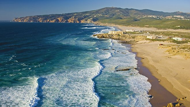 After renting a bike in Sintra you can ride to Praia do Guincho