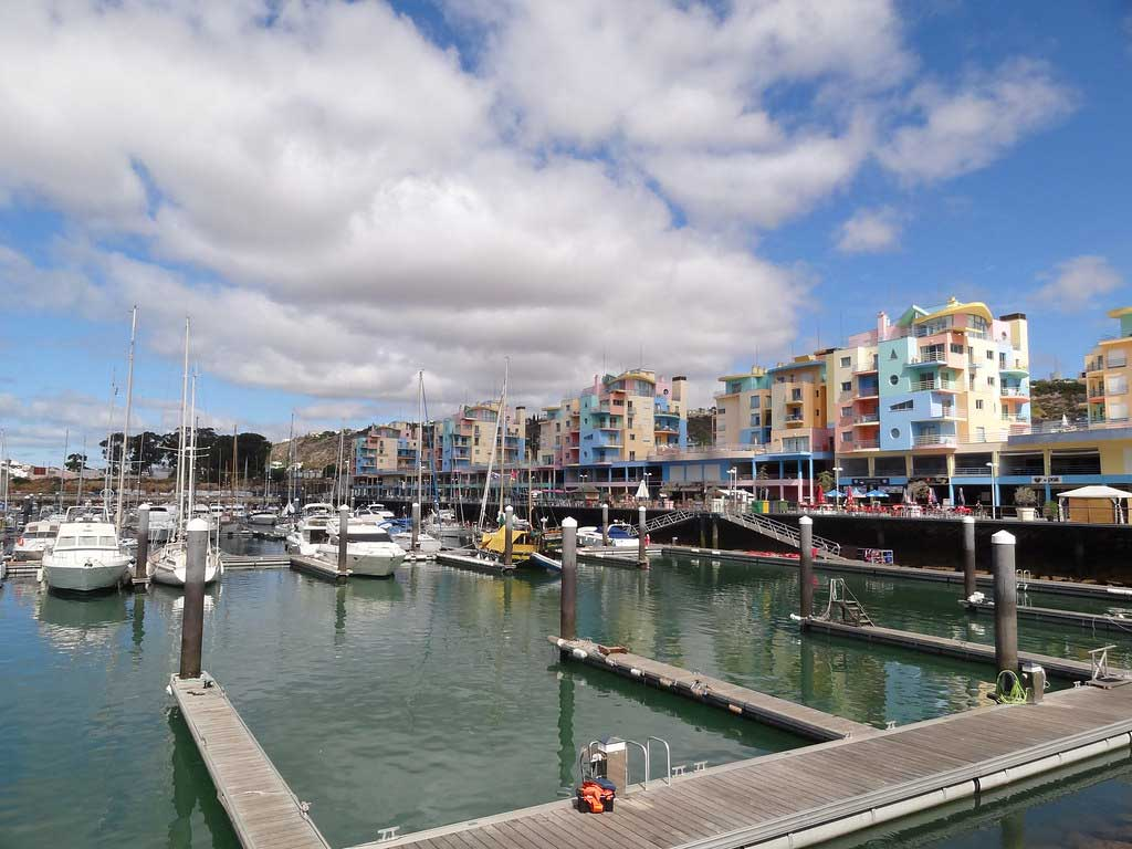 The view of Albufeira Marina