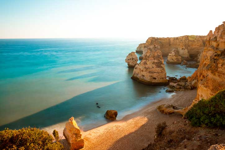 You can visit Algarve beach by renting a bike in Faro or trying a bike tour in Faro