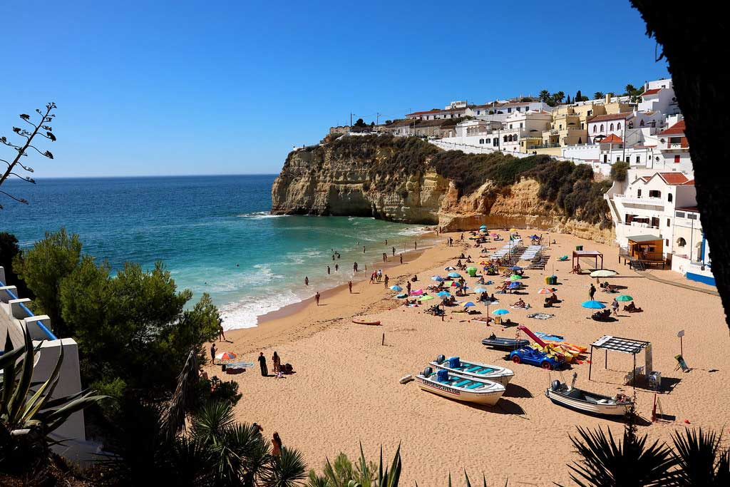 One of the amazing beaches that you can visit by trying the best tours in Algarve