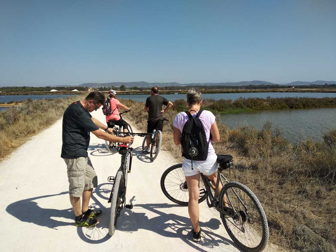 A group of people are ready for Algarve bike holidays