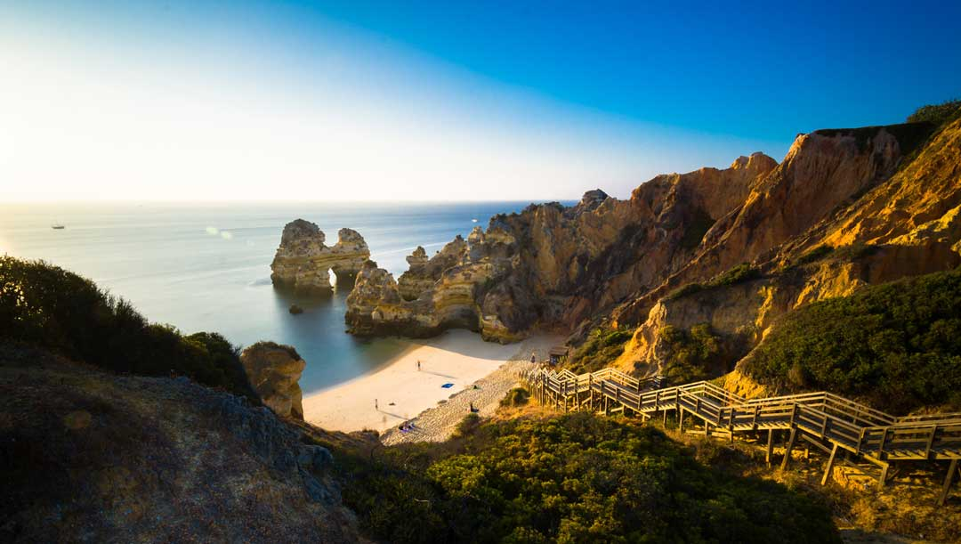 Amazing beach and cliffs that you can visit by trying one of the best bike tours in Portugal