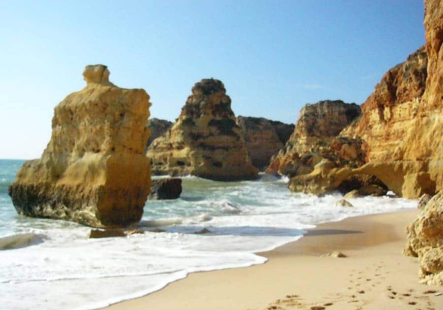 By renting a bike, you can also visit beautiful beaches and amazing cliffs in Almancil