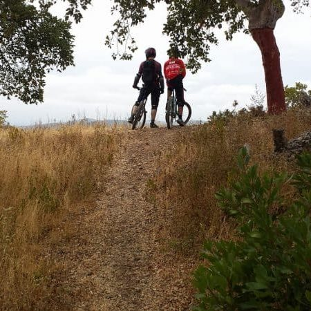 Two persons are enjoying Bike Guided Enduro Tour