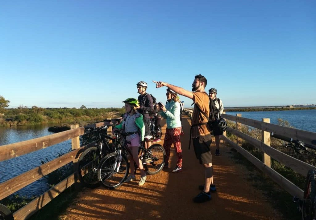 People are enjoying Ria Formosa Tour by MTB Algarve, the best bike rental and tour in Algarve and around Portugal